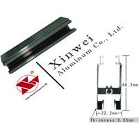 2015 hot selling 0.55mm thin 6063 aluminium profile