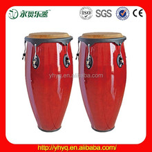 Conga drum with cow skin drum heads drums tjw