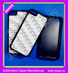 JESOY 2D Sublimation Case For iphone 5 Rubber Sublimation Phone Case,Sublimation For iphone Cases With Rubber Insert