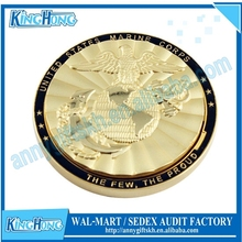 Fashionable gold plated engrave old coin price