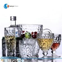 Samyo Custom Glassware Manufacturer machine made engraved glass juice mug