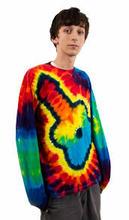 Novo designer tie-dye mais recentes modelos de rayon manga longa moda blusas 2014