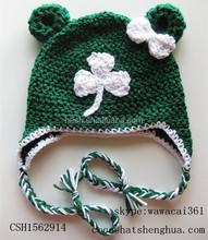 Crochet Children hat with animal design knit