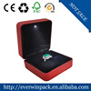 red engagement ring box led light/ lighted ring box