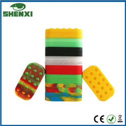 New arrival electronic cigarette smoking silicone jars/dab wax vaporizer/silicone oil containers