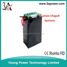 Customized 36v 10ah electric bike lifepo4 battery packs with bms and charger