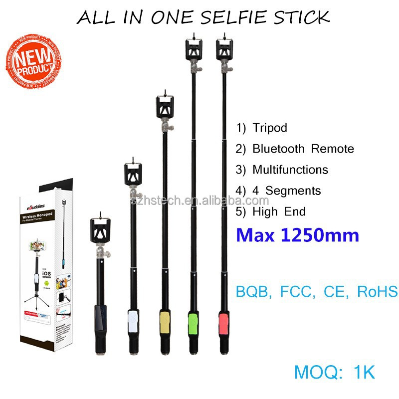 4 in1 selfie stick 2015 best bluetooth selfie stick with remote tripod phone mount for iphone. Black Bedroom Furniture Sets. Home Design Ideas