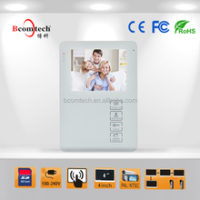 Bcomtech 4 Inch TFT LCD Color Video Door Phone keep an Eye on your family