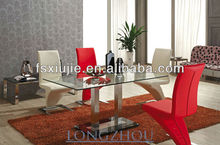 Stainless Steel Glass Space Saving Dining Table L832