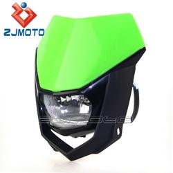 Universal Green Motorcycle Headlight H4 35/35W Streetfighter Head Light Scheinwerfer Dirt Bike Off Road Bike Headlight