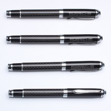 Luxury big sale carbon fiber roller pen with metal cap for new year gift