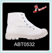 Promotion new fashion girls lace up boots cheap low heel ankle boots