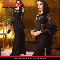 lace embroidery sexy hot girl club long sleeve maxi evening dress 2015
