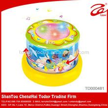 barril de plástico azul tambores de electrónica de la batería de juguete