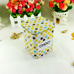 Cheap good design metal square plain tin container for chocolate