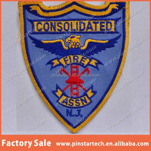 China supplier wholesale custom Embroidered Shoulder Patch New Jersey Consolidated Fire Association Department