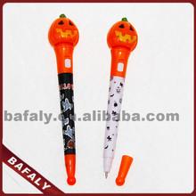 Promotion hot sell new style factory directly halloween bounce ballpoint pen,flashing halloween feather pen,halloween ball pen