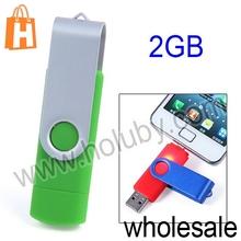2 in 1 Micro USB+USB 2.0 8GB OTG Flash Memory Drive Swivel Model