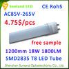 Long life span 50000h cheap 18w t8 high quality led pink tube 5000k and 2014 www hot sex com led t8 tube light