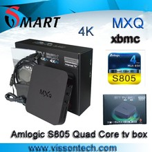 MXQ s805 preinstalled Kodi 15.0 fully loaded live tv channels quad core android tv box MXQ Amlogic S805 MXQ