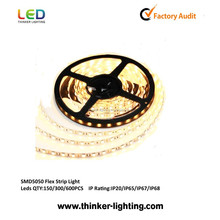 State-of-Art CE/RoHS/GS listed High Efficiency IP65 Waterproof Flexible SMD UL LED Strip 220V With TOP 2835/3528/3014/5050 LEDs