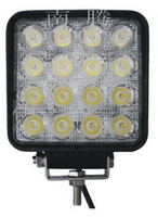 High bright 48w led work light IP67 square hot sell motorcycle offroad led light