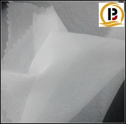 china thin Plain knitted fusing interlining/PA double-dot woven interlining/50D white adhesive paper interlining
