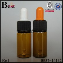 10ml brown Perfume Tube Bottle Glass with dropper, hot sale Perfume Tube Bottle Glass