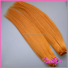 2015 7A Grade virgin remy indian hair weave orange hair extension