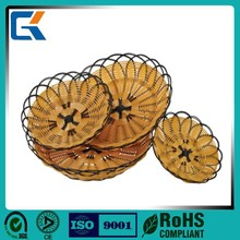 Elegant room small plastic rattan food basket with different size