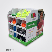 Store Cardboard Pallet Display Stands For cloth classify