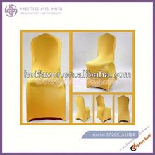 wholesale polyester chair cover for hotel design gold lycra nylon spandex chair cover for event decoration manufacturer