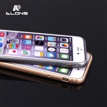 2015 hot sale!! Metal frame Bumper Case hard cover protective (1frame+2 TPU backup case) aluminum case for iphone 6