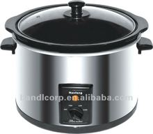 5L 320W Stainless Steel Electric Round Shape Slow Cooker