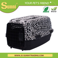 Customized high quality dog travel cage plastic dog house