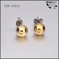 European and American fashion personality hypoallergenic women's stainless steel latest bead earring