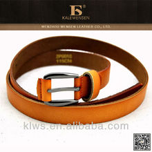 Fashionable skinny leather women leather belt