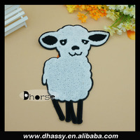 New 2015 white sheep embroidered patch wholesale, custom patch