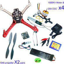 F02192-B RC 4 Axis Multi QuadCopter UFO ARF/Kit No TX&RX:KK V2.3 Circuit board+1000KV Motor+30A ESC+Lipo+F450 Flamewheel
