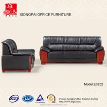 Big size leather office waiting room sofa E3252