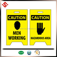 2015 Workplace Safety folder caution board, security collapsible sign