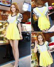ladies Women's Fashion Candy Color Braces Short Suspender Skirt 3 Colors plus Sizes 16803