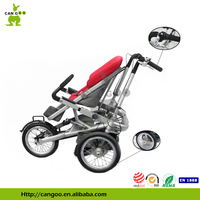 Alluminum Folding Bicycle Cargo Trailer 3 Wheel Safety For Sale