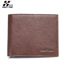 Brand New Leather Wallet in Stocks Wholesale Man Genuine Leather Wallet Fashion Travel Wallet
