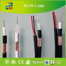 Perfection Attenuation Index CCTV Cable RG59+2C Coaxial Cable, RG59 Coax Cable 95% Coverage