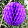 beautiful dark purple Hot sale tissue paper honeycomb ball for wedding decoration
