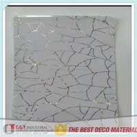 Laser coated and printed kitchen cabinet door film/decorative skin