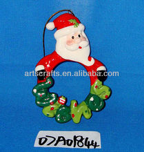 Christmas tree santa hanging ornament