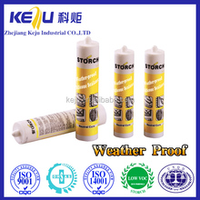 Fire-proof silicone sealant, structure with concrete silicone sealant