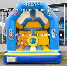 Newest and cheap OCEAN Classical inflatable bouncer and slide combo castle